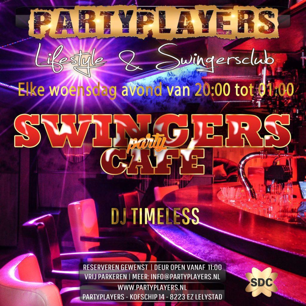 Elke woensdag Swingers Café vanaf 20:00 tot 01:00