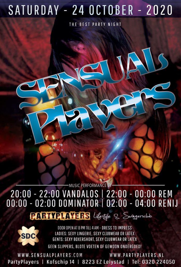 https://www.eventbrite.nl/o/sensual-players-30184194618  Beste mensen,  Volgens de huidige RIVM-regels, ivm corona, mogen onze themafeesten voorlopig niet doorgaan. Zo geldt dat ook voor Sensual Players, dat gepland stond op 19 september. Kaarten die gekocht zijn voor deze editie, mogen gebruikt worden voor de eerstvolgende Sensual Players, die wel door gaat.  Tickets online https://www.eventbrite.nl/o/sensual-players-30184194618